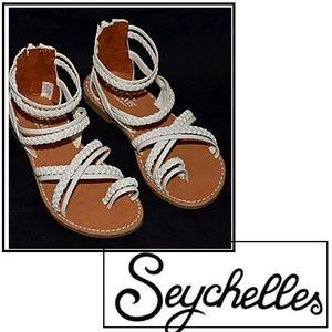 Seychelles White Gladiator Back Zip Sandal's NEW